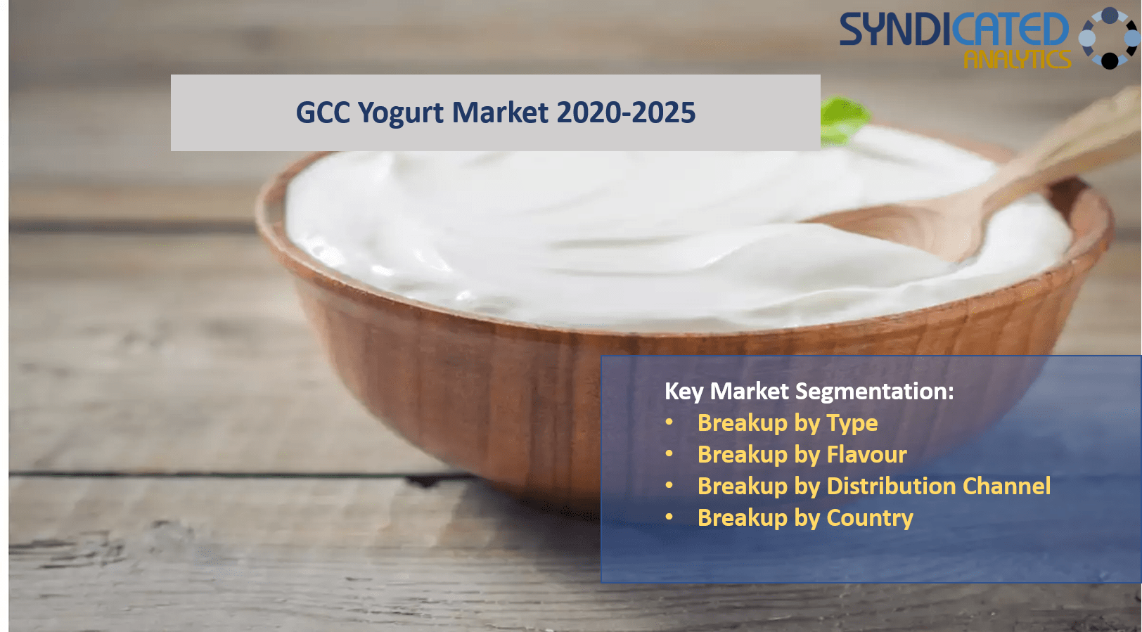 GCC Yogurt Market Report 2020-2025